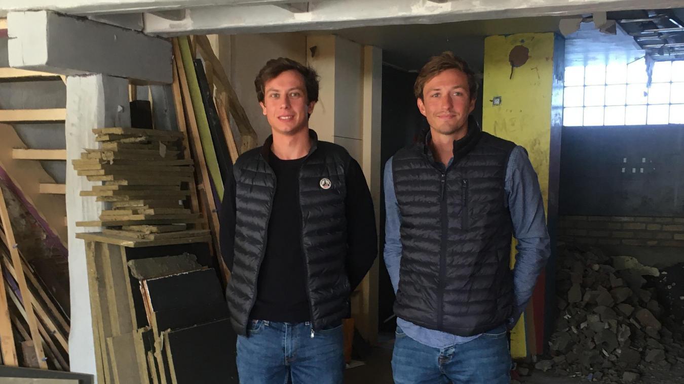 Clément Segard, à gauche, et Léo Verheyde, à droite, ouvriront leur cabinet moderne en 2020.