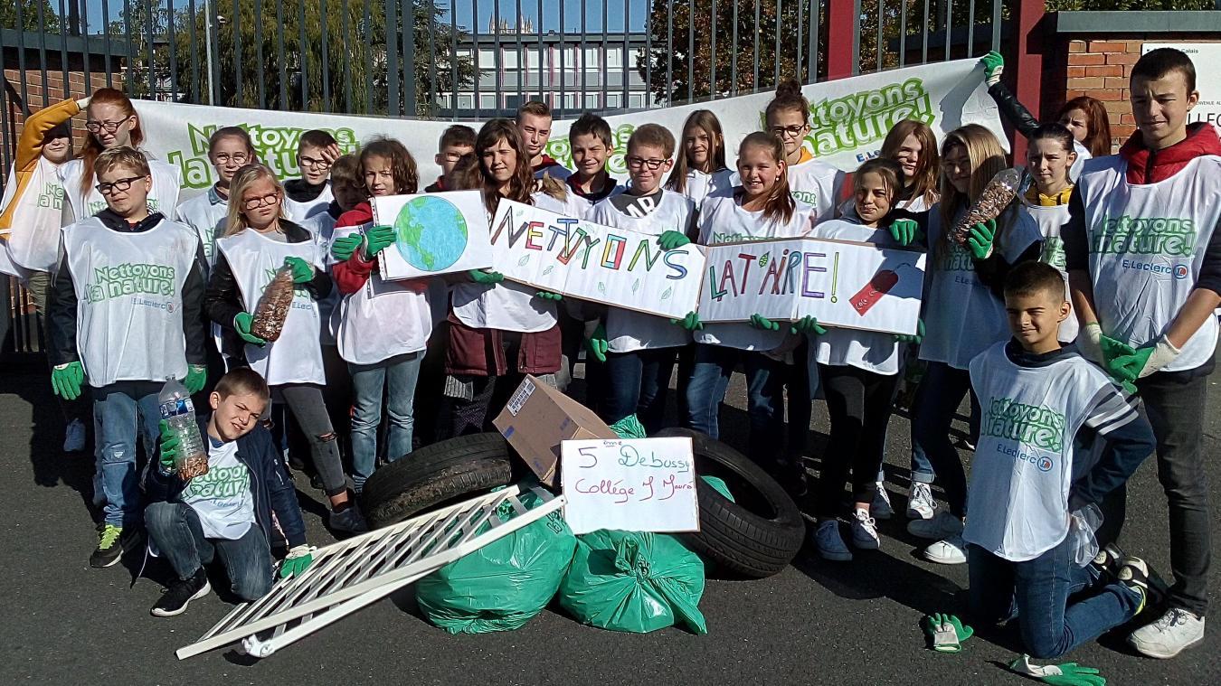 Le collège Jean-Jaurès (Aire) nettoie la ''T'Aire''