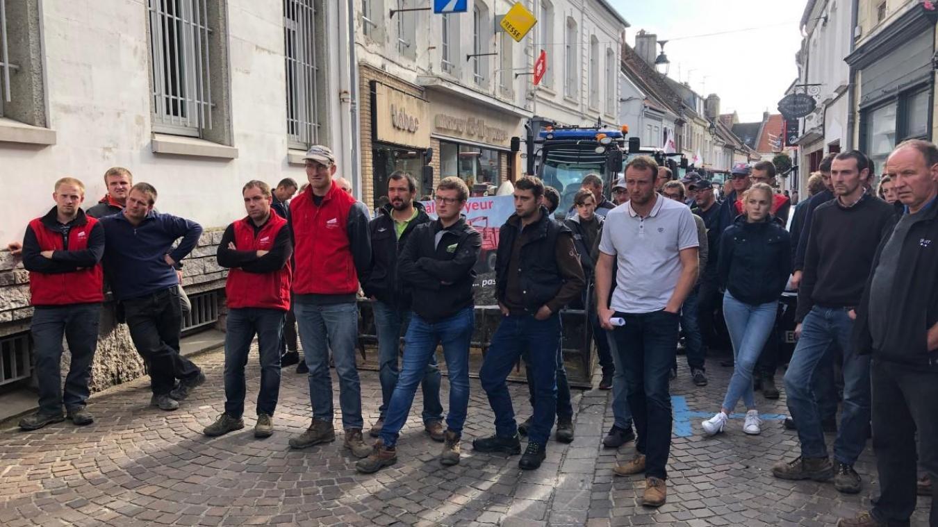 Une délégation d'agriculteurs a été reçue en sous-préfecture de Montreuil-sur-Mer, ce vendredi 27 septembre.
