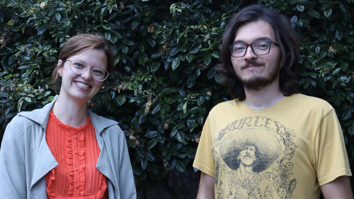 Thomas Thuilliez, président, et Camille Bouquet, trésorière de l'association, sont prêts à relever le défi du Nikon Film Festival et comptent sur le vote des Dunkerquois.