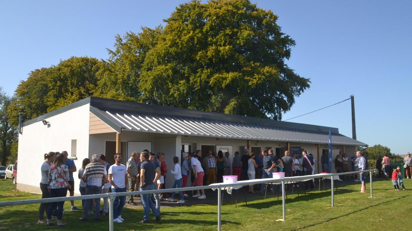 Des vestiaires flambants neufs pour les 150 licenciés du club de football.