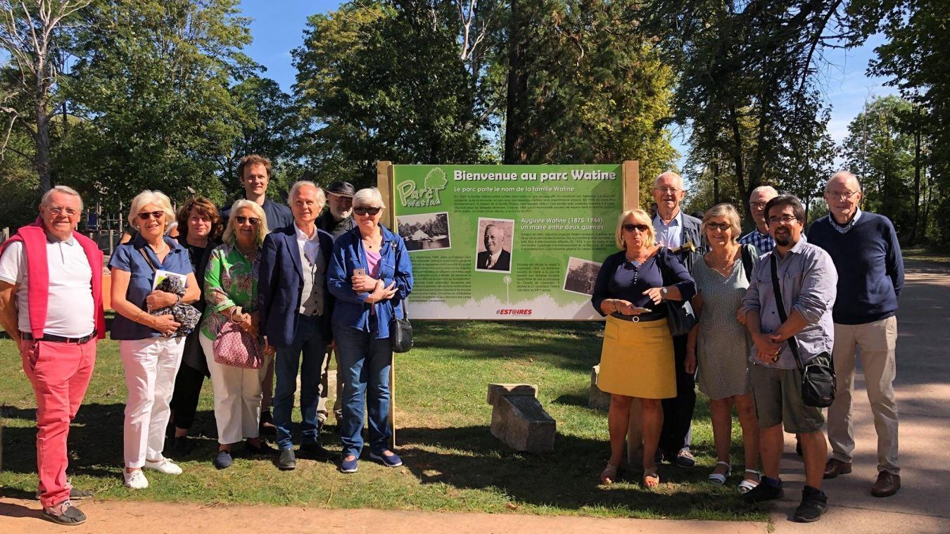 La famille d'Auguste Watine en visite à Estaires