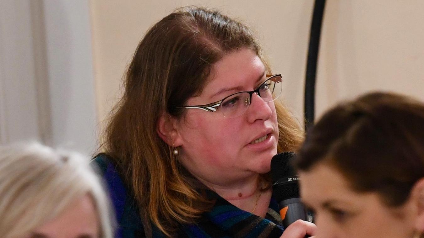 Delphine Castelli est la secrétaire de la section locale du Parti communiste français.