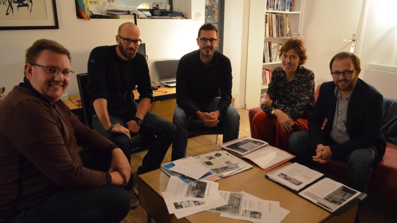 De gauche à droite : Jean-Baptiste Vandenbroucke, Philippe Florent, Maxime Deplancke, Emilie Ducourant et Luc Florent.