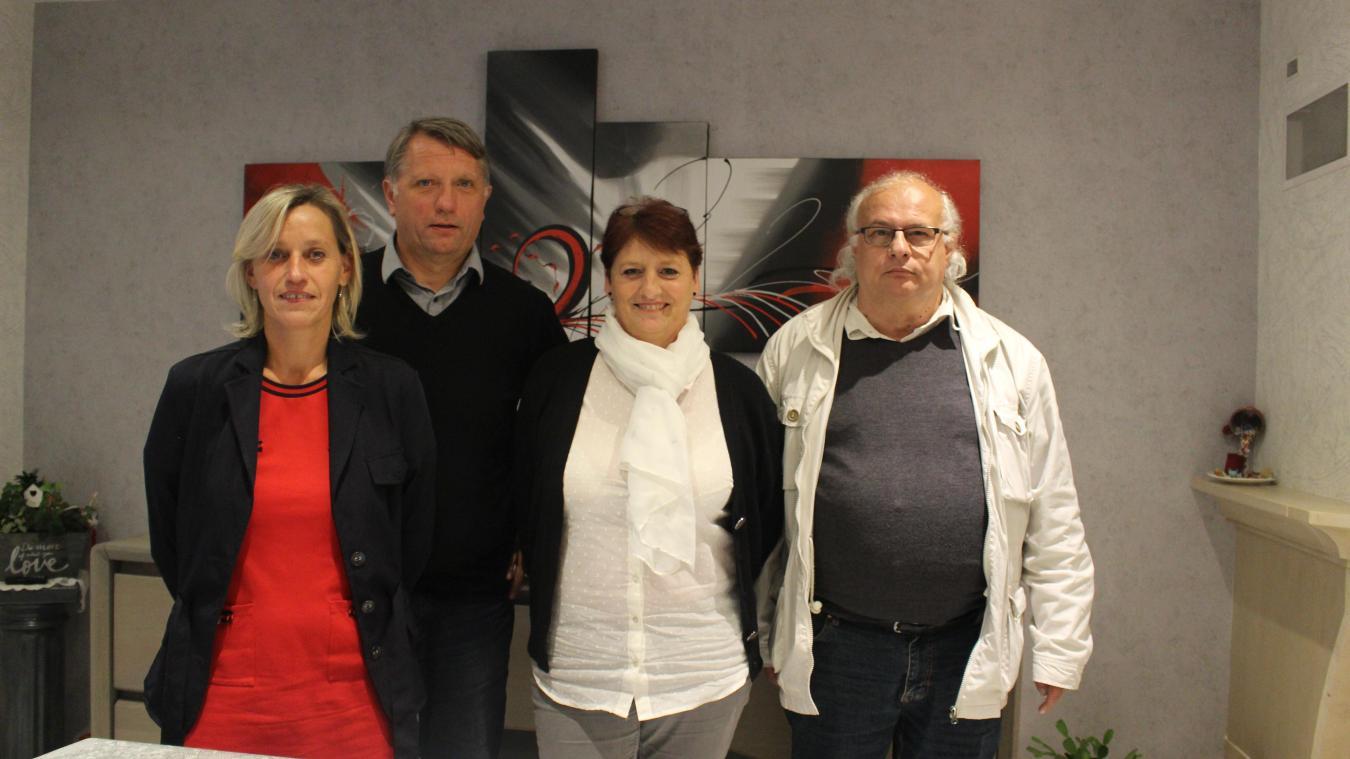 Pascale Hourriez, Marc Kopaczyk, Marie-Josée Golliot et Gérard Cailliau présentent une liste pour les municipales de 2020.