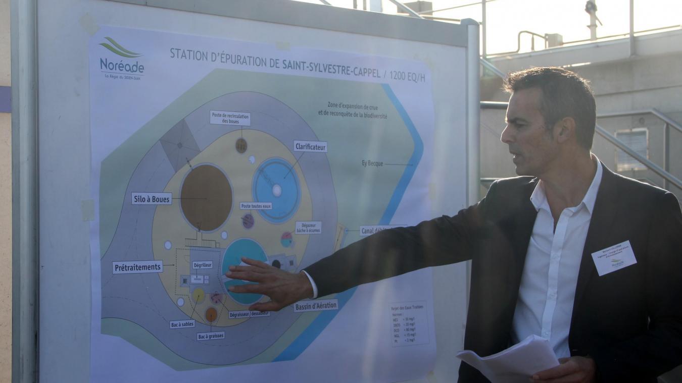 Les élus ont découvert la toute nouvelle station d'épuration de Saint-Sylvestre-Cappel.