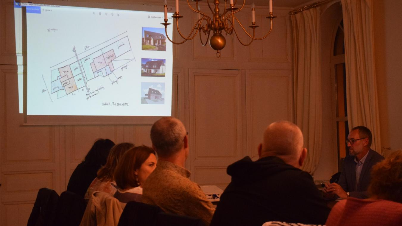 Les élus ont découvert la proposition de Flandre Opale Habitat lors du dernier conseil municipal.