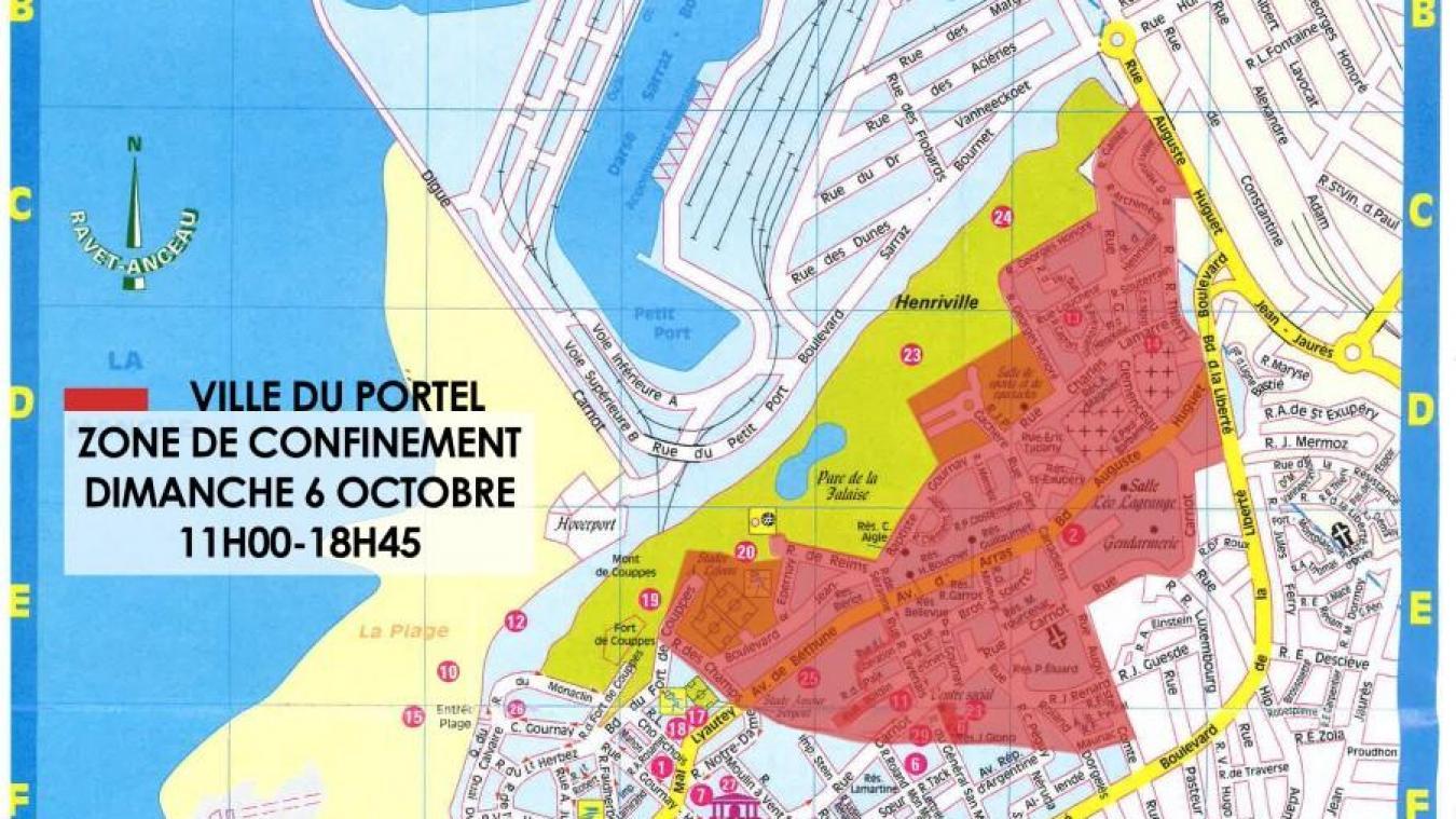 Le Portel : 35% de la commune concernée par le périmètre de confinement