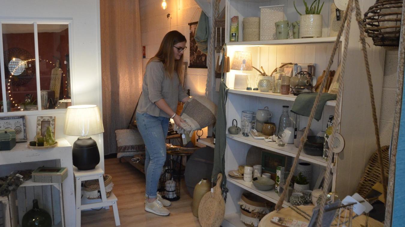 Maïté Pouilly, 24 ans, a ouvert sa boutique de décoration au mois de mai, sur la zone d'activité de Marquise.