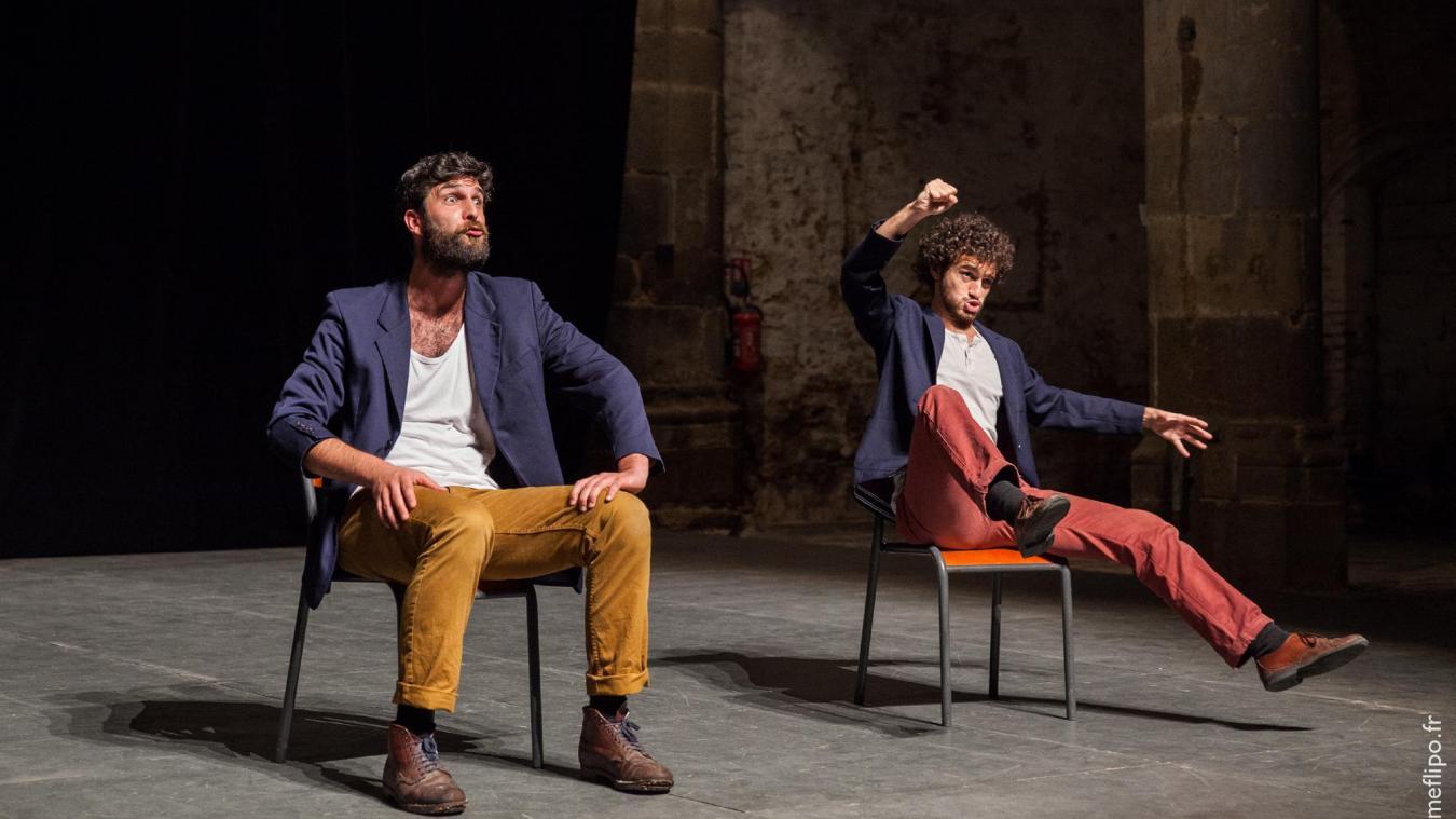 Les deux hommes de Maxiju joueront leur spectacle « Bref...le grand Nord » le 25 octobre à Estaires, et le 27 octobre à Lestrem. ©Maxime Flipo