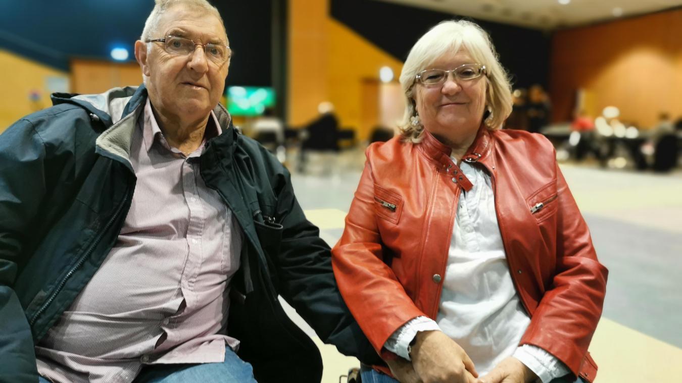 Bernard et Andrée font partie des Boulonnais évacués à la salle de la Faïencerie.
