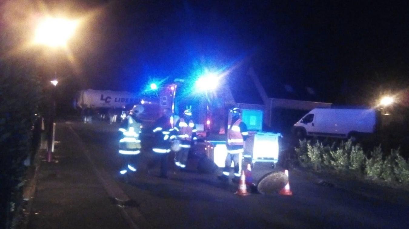 Les pompiers de Saint-Venant ont été alertés peu après 20 heures, lundi 7 octobre.