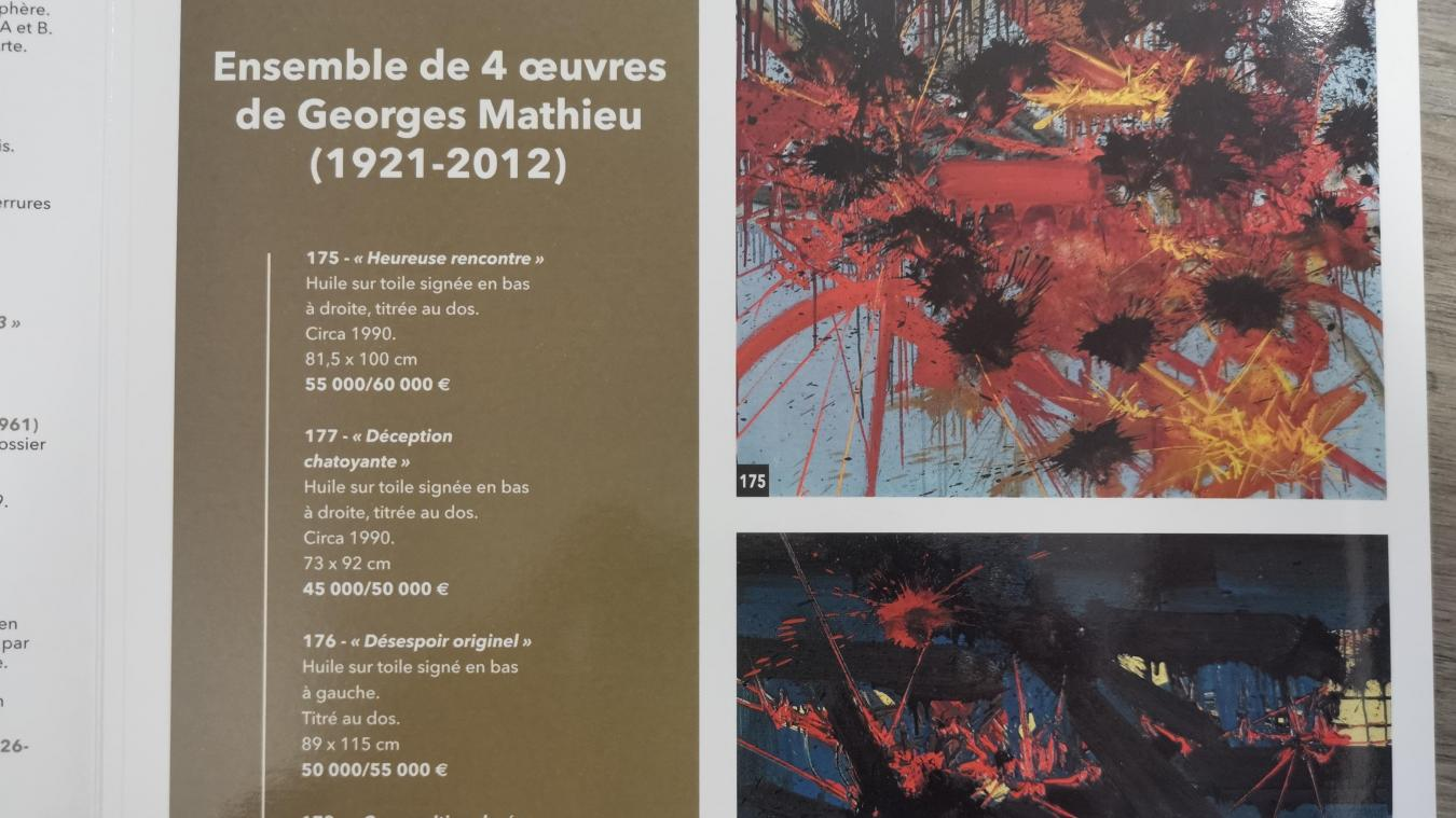 Certaines des œuvres sont estimées à plusieurs dizaines de milliers d'euros.