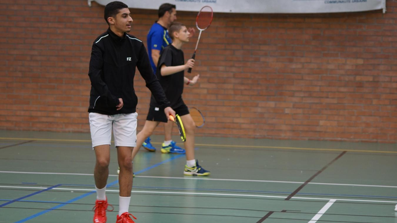 C'est le deuxième open international auquel participait le jeune espoir de l'OGS Badminton.