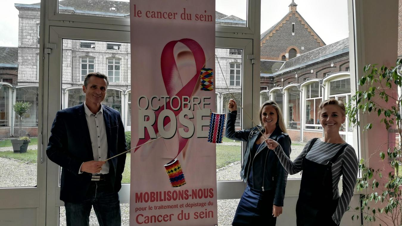 L'équipe de direction de Saint-Dominique et les bénévoles d'Octobre Rose espèrent récolter le double de dons cette année.
