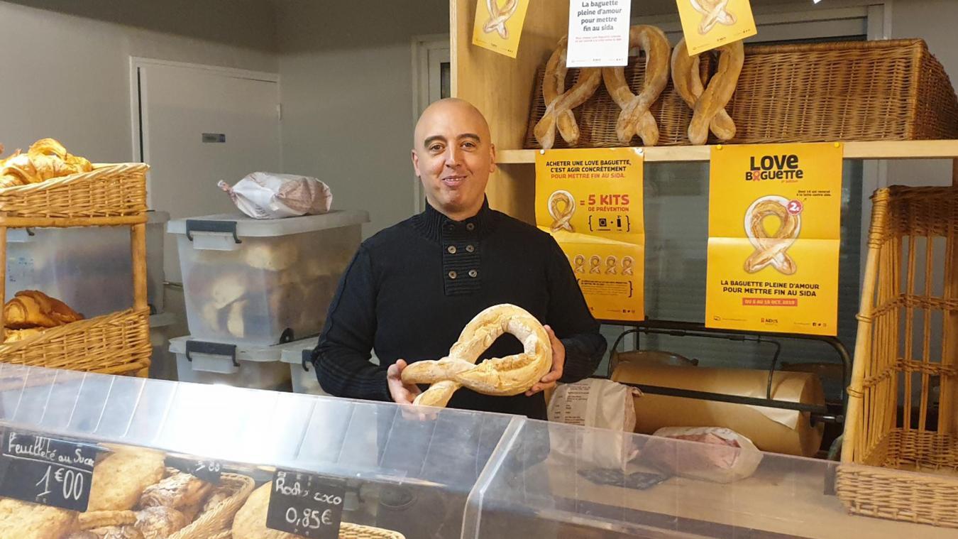 Une « love baguette » à la boulangerie de Selles