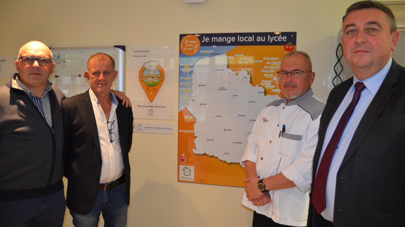 Laurent Pruvost (société Pruvost-Leroy, Saint-Hilaire-Cottes), Patrick Fumery (boucher artisanal à Aire-sur-la-Lys) encadrent le label avec Thierry Risbourque et Didier Rys, respectivement chef de la restauration et proviseur du Lycée Vauban d'Aire-sur-la-Lys.
