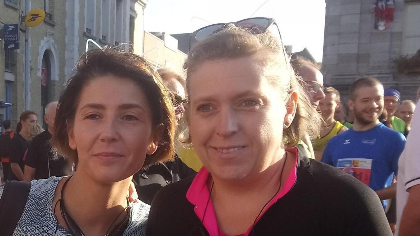 Sandrine n'a pas changé ses habitudes : elle continue à courir deux heures chaque dimanche. Un bon entraînement avant la course de ce week-end.