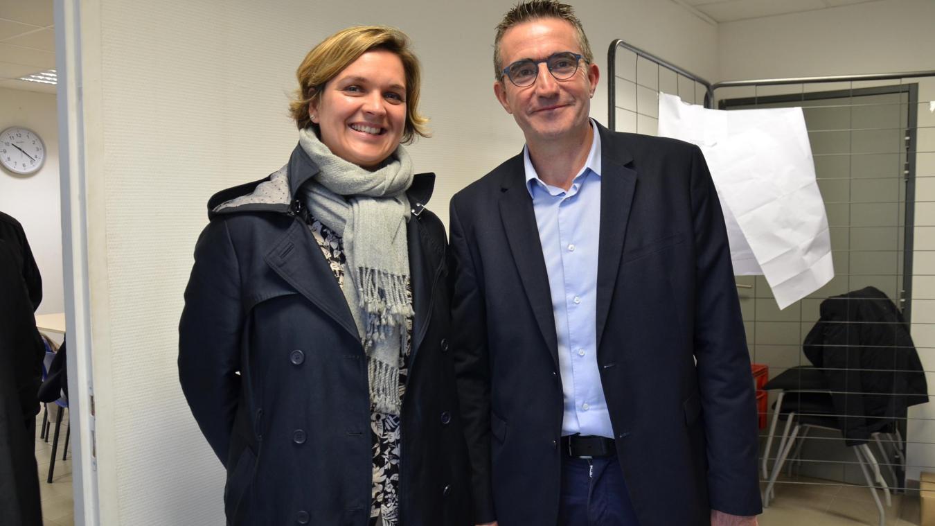 Perrine Daubelcour et Philippe Bocaert sont les ambassadeurs de l'implantation de la plate-forme Lidl dans la zone des Escardalles.