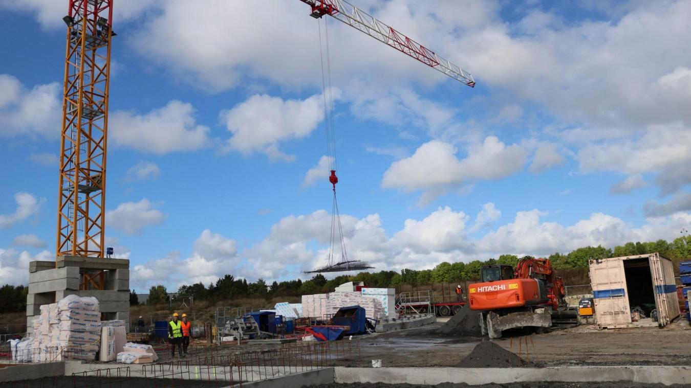 Près du parc des Faitelles, le chantier a repris son cours. (Photo : Ville de Vendin-le-Vieil)