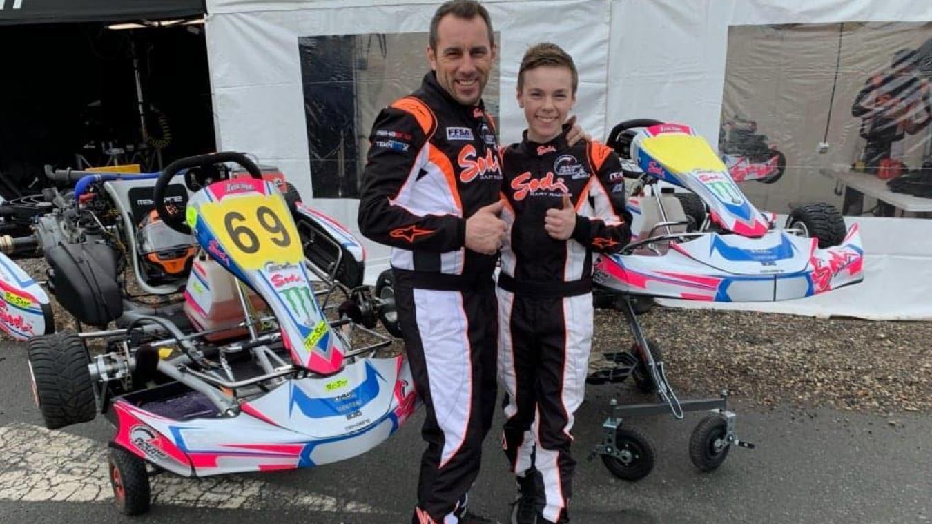 Avec son fils, Gérald Boulogne a retrouvé le goût de vivre sur les circuits de karting.