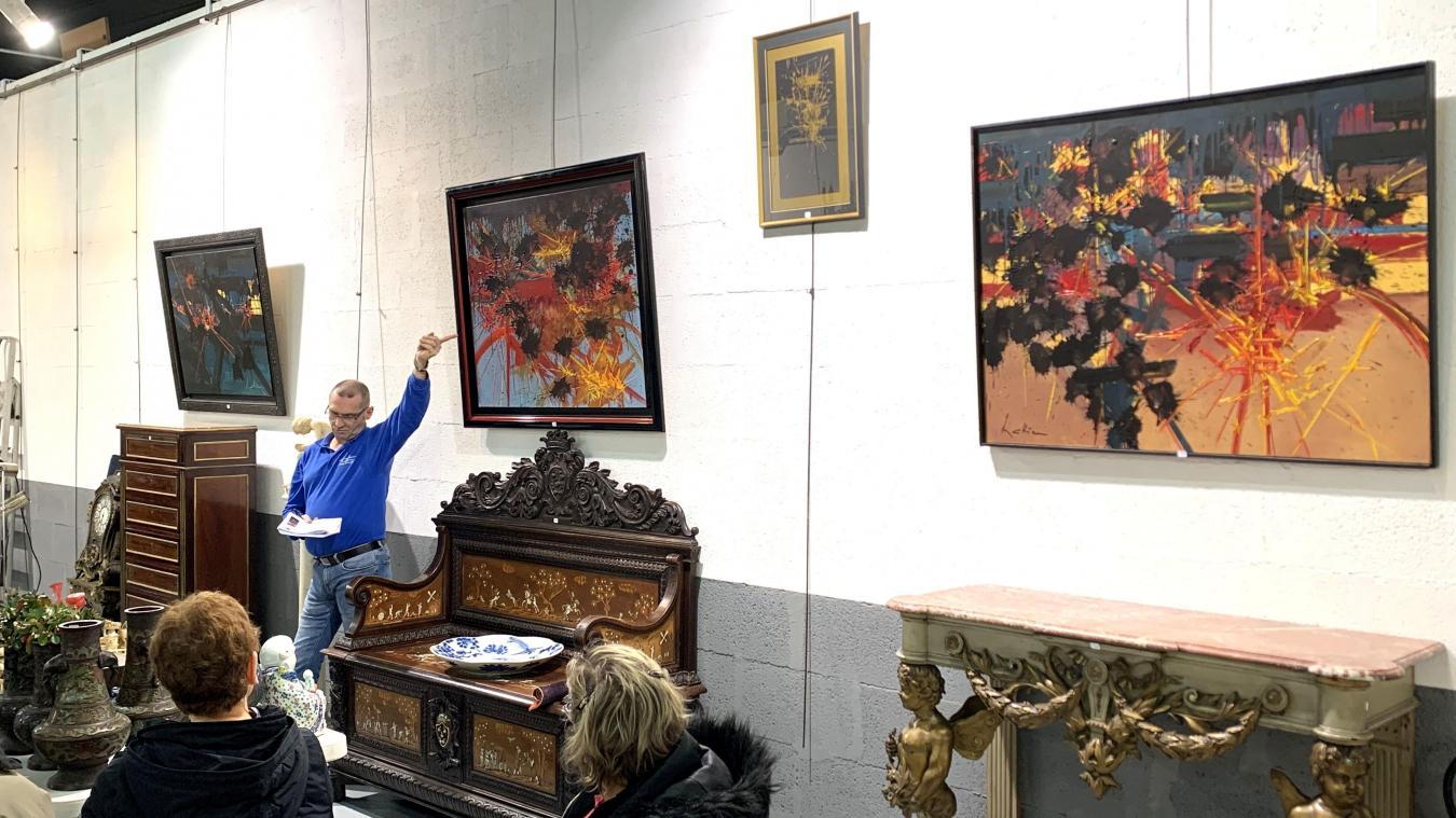 Les quatre œuvres de Georges Mathieu se sont adjugées pour un total de plus de 166 000 euros.