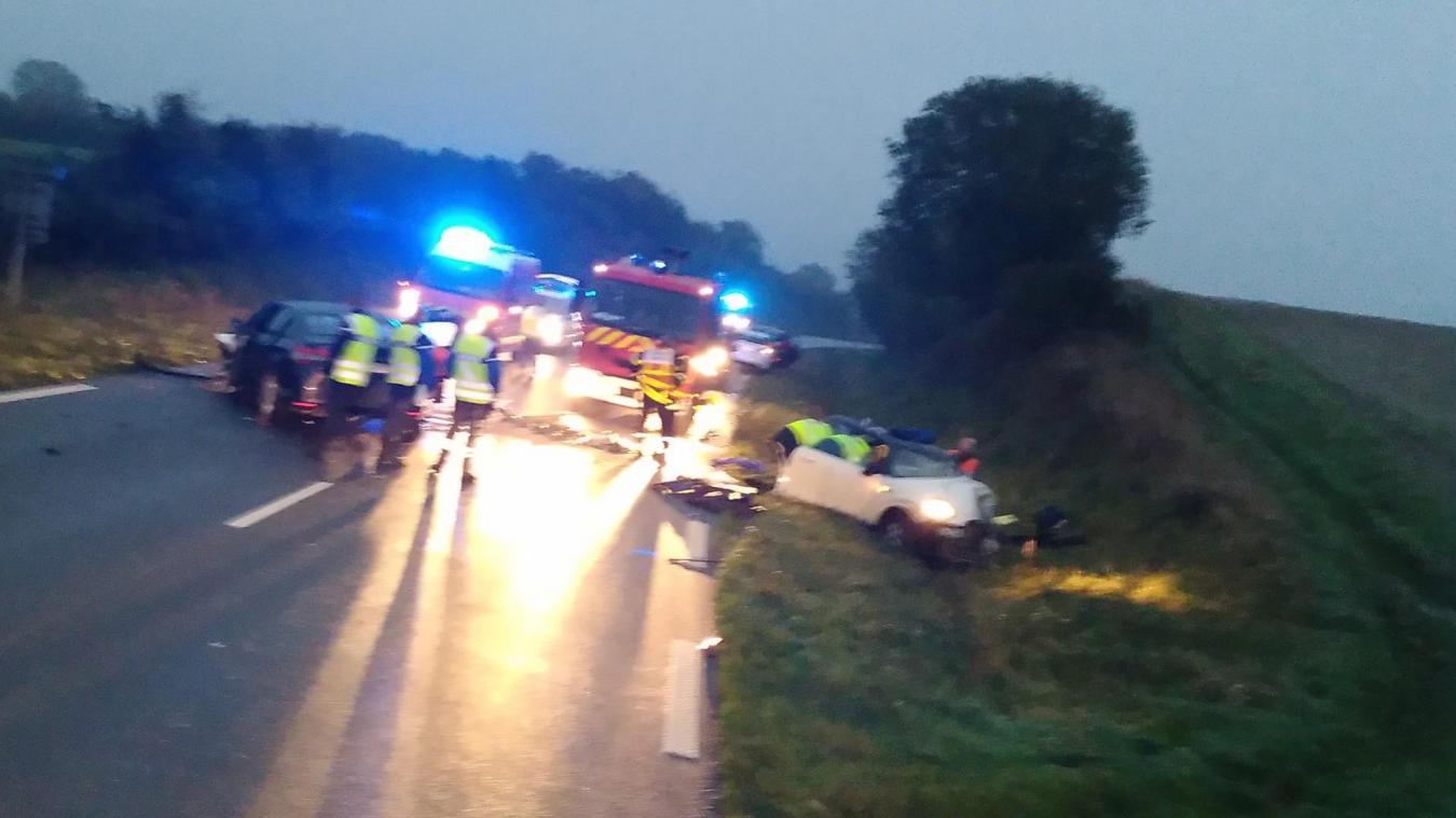 L'accident s'est produit en fin de journée, samedi 12 octobre, sur la RN 42.