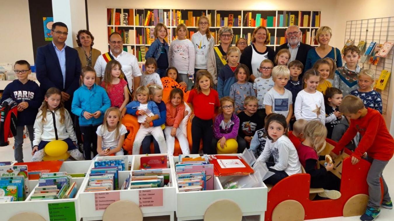Lors de la soirée de lancement du projet, fin septembre, les enfants d'Hondschoote et de Furnes étaient présents, aux côtés des partenaires.