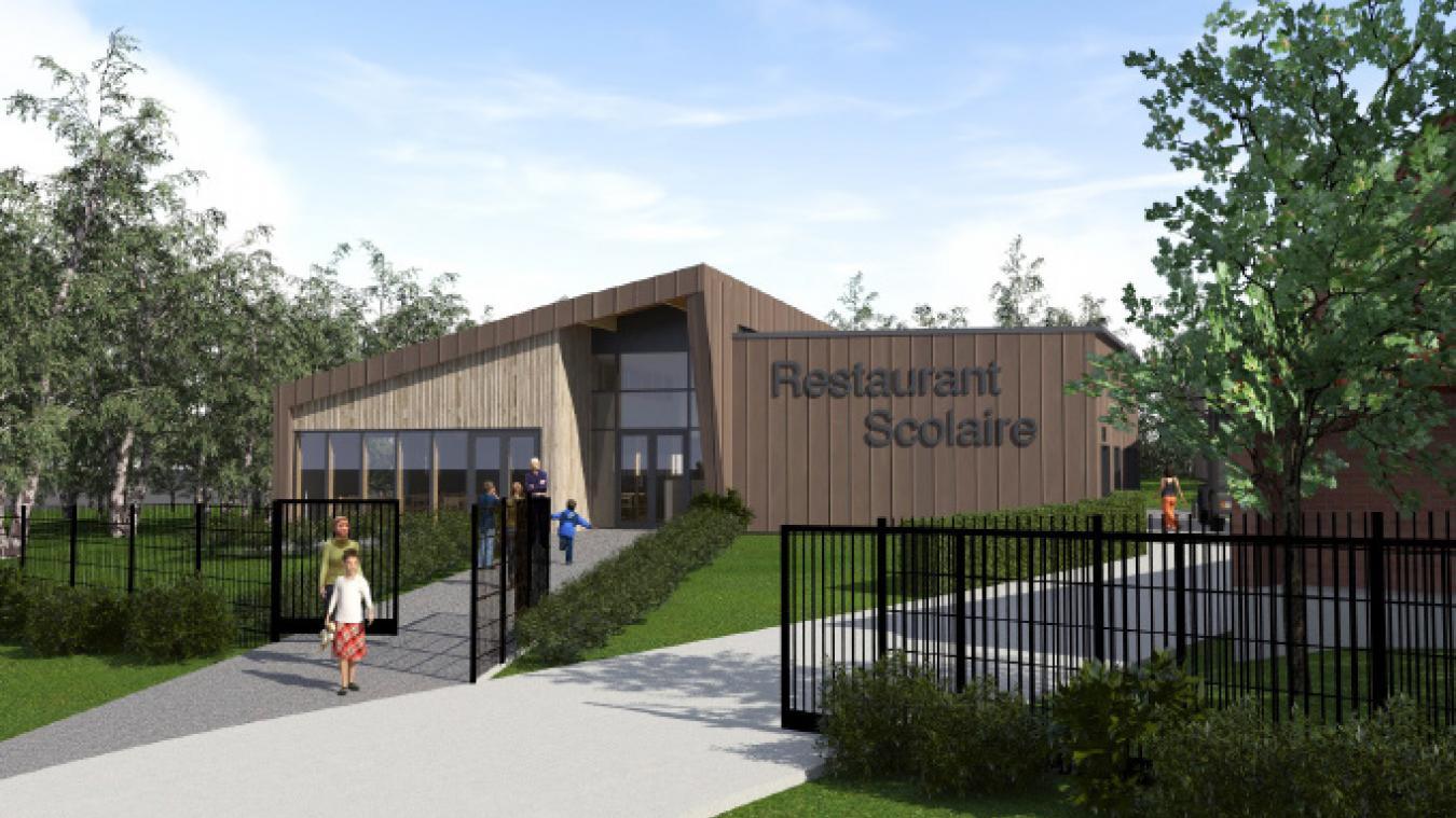 Le projet de cantine scolaire à Godewaersvelde sera implanté sur un espace naturel abandonné jusqu'à présent.