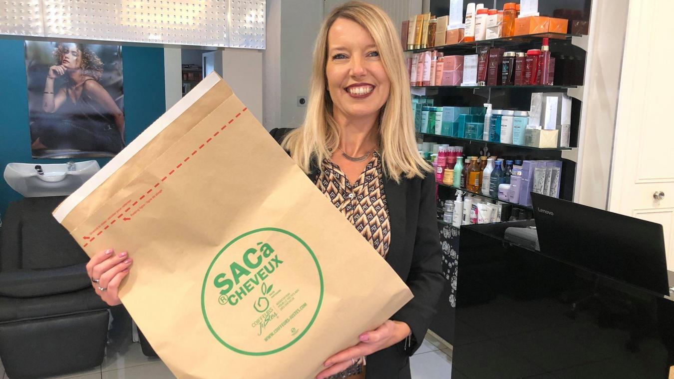 Chantal Boulet propose de recycler vous cheveux grâce à une association.