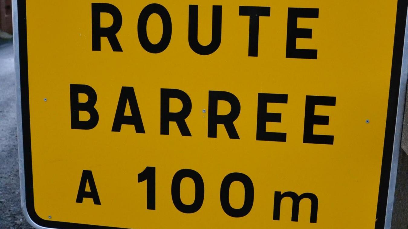 La route sera interdite à la circulation durant tout le chantier. ©Photo d'illustration
