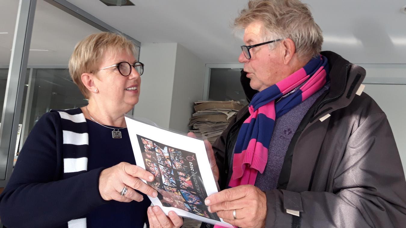 La rencontre entre Jean-Louis Burnod et Lyliane Carpentier d'Au-delà du cancer a permis la réalisation d'un calendrier au profit des malades du cancer.