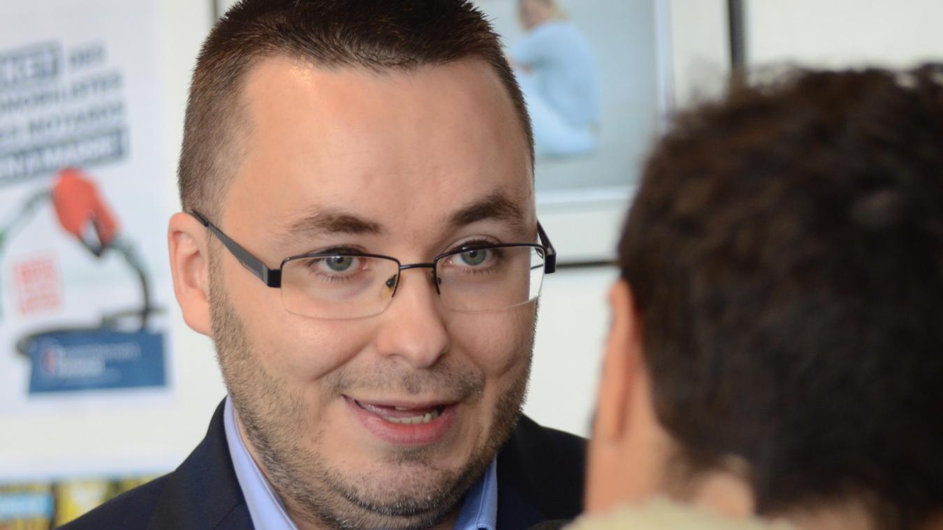 Yohann Duval, 33 ans, a pour lourde tâche de succéder à Philippe Eymery en tant que tête de liste du Défi dunkerquois pour les municipales de l'an prochain.