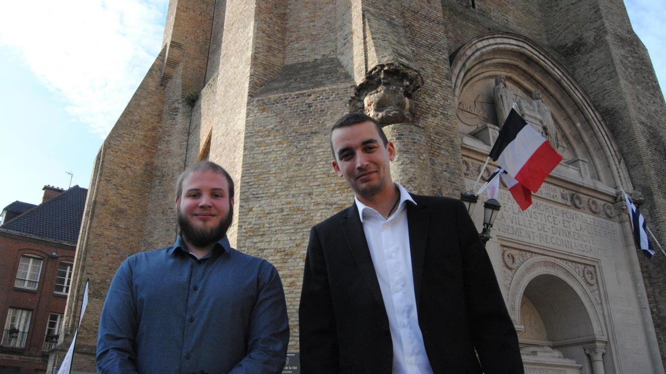 Les deux jeunes entrepreneurs se sont formés dans les locaux de BGE à Dunkerque.