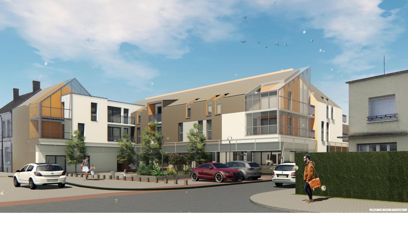 L'immeuble disposera de 17 logements du T2 au T4.