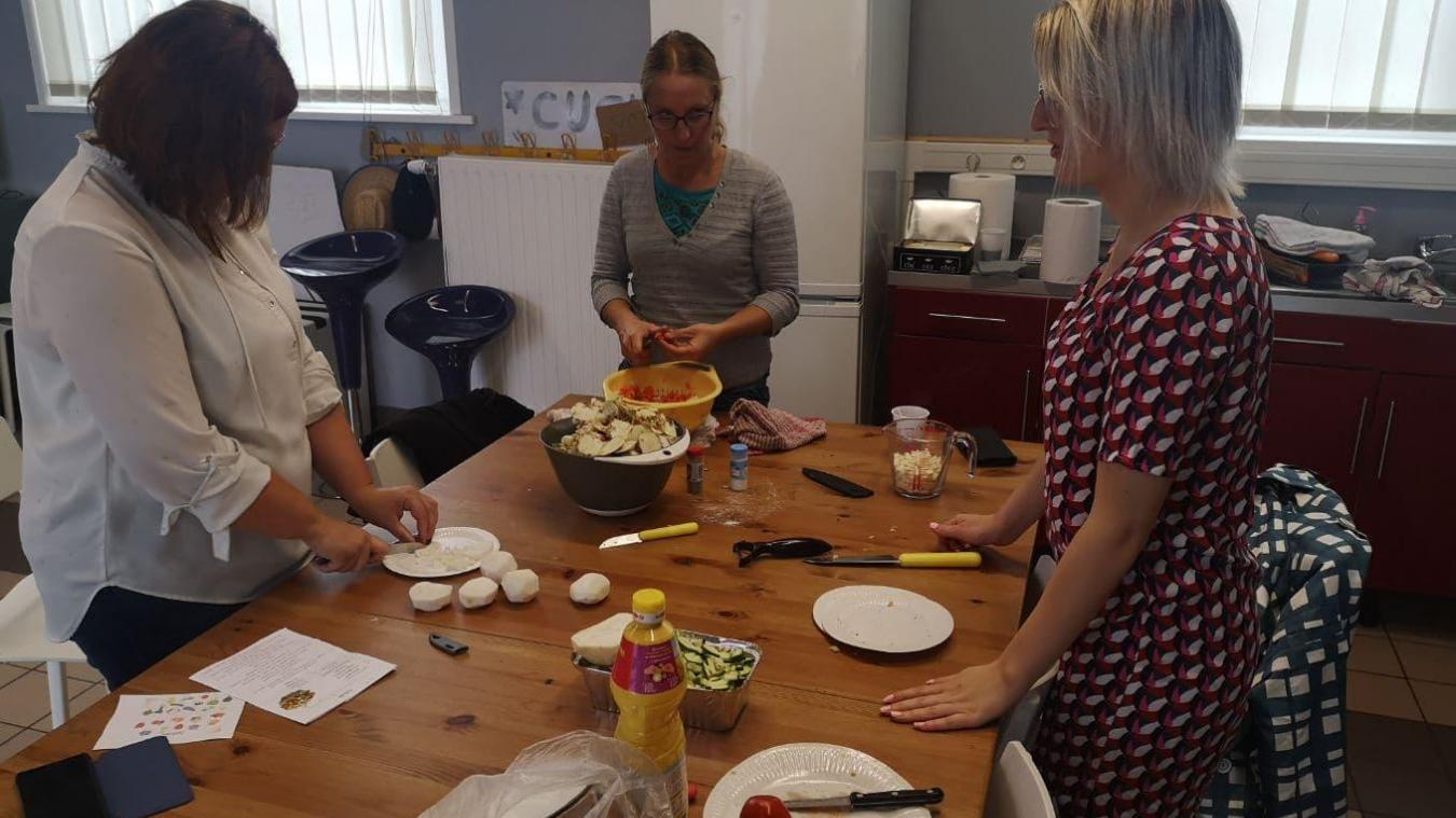 Après les conseils lors du coaching courses, les participants peuvent profiter d'astuces... en cuisine !