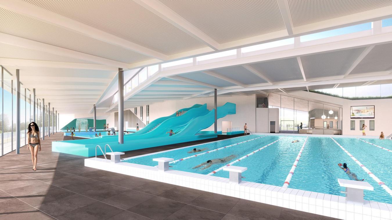 La partie aquatique est composée d'un bassin sportif de six couloirs, un bassin d'apprentissage, un pentagliss, une pataugeoire, des vestiaires, des sanitaires et douches…