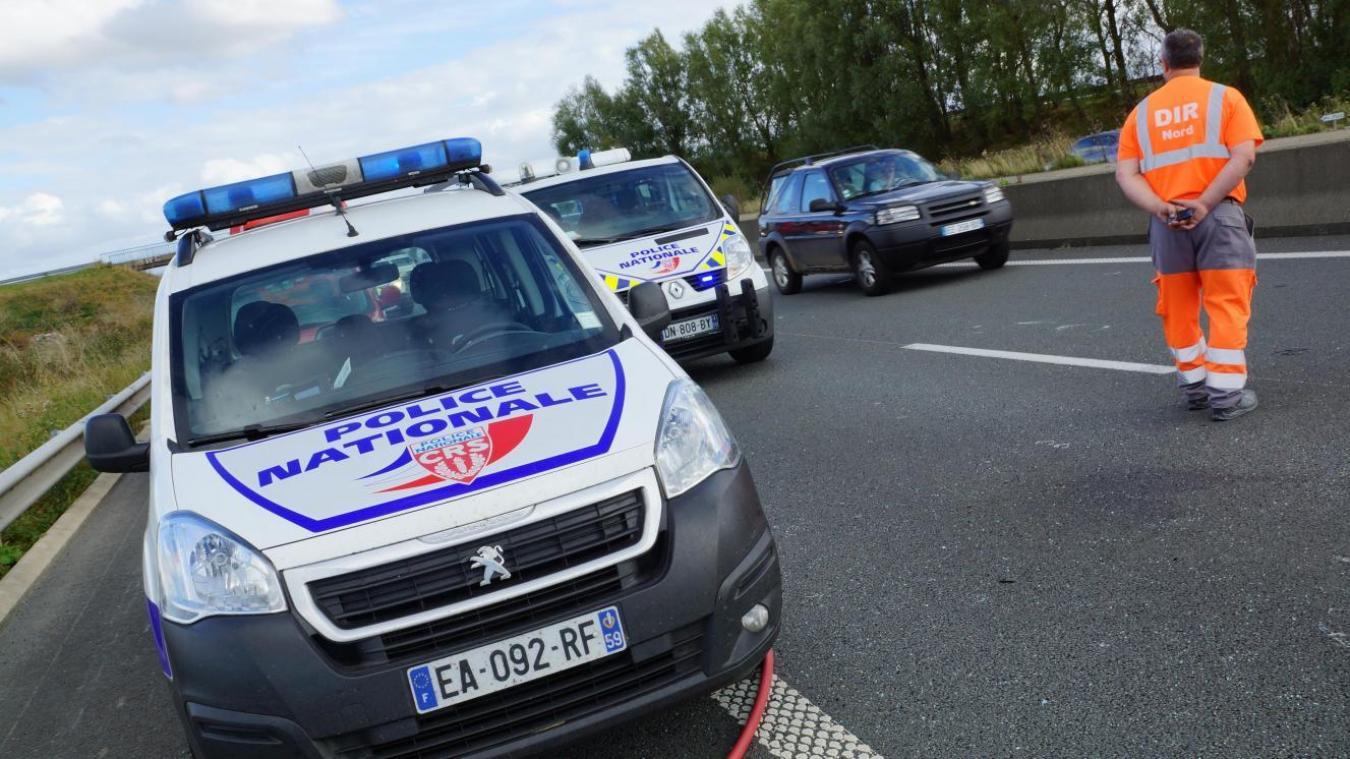 Un accident s'est produit ce mercredi vers 13h sur l'A25 au niveau de Quaëdypre. (Image d'illustration)