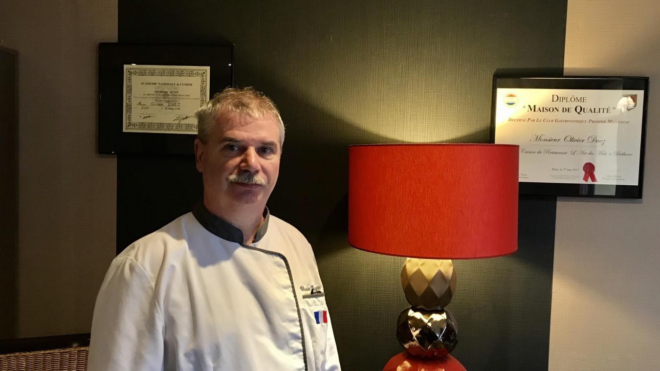 Souchez: Olivier Duez, futur chef du restaurant «Mets & Histoire», voisin du Mémorial 14-18