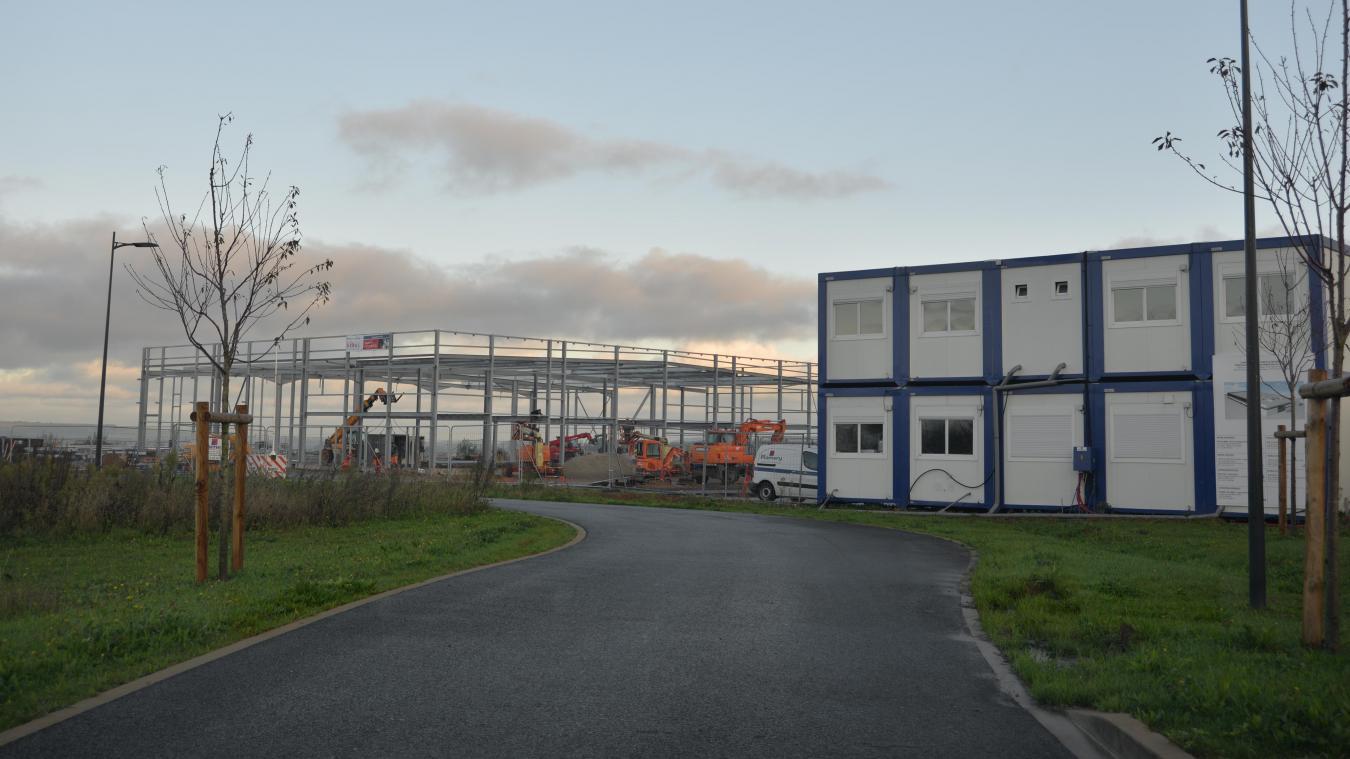 Le chantier a débuté en septembre. Le centre de tri doit ouvrir en mars 2020.