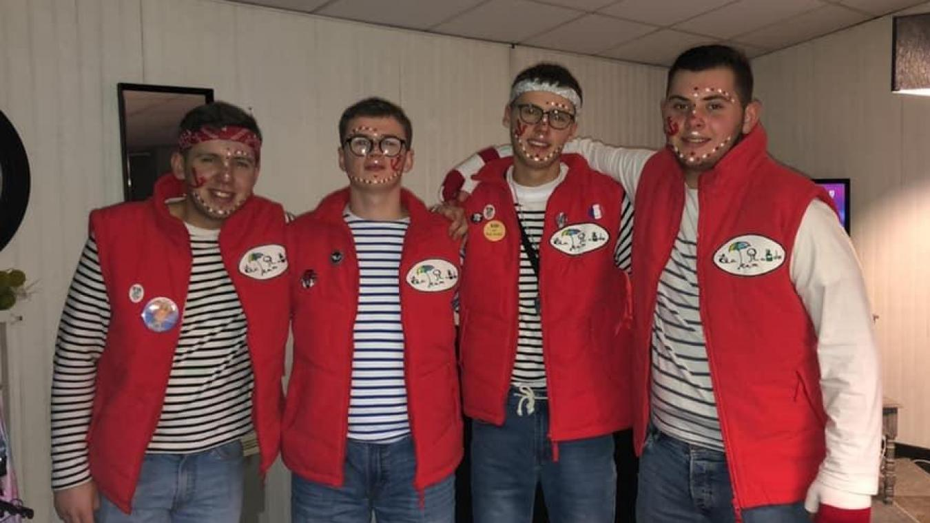 Lory, Paul, Logan et Antoine (de gauche à droite) ont lancé l'association, vite rejoints par Louis, puis Enzo.