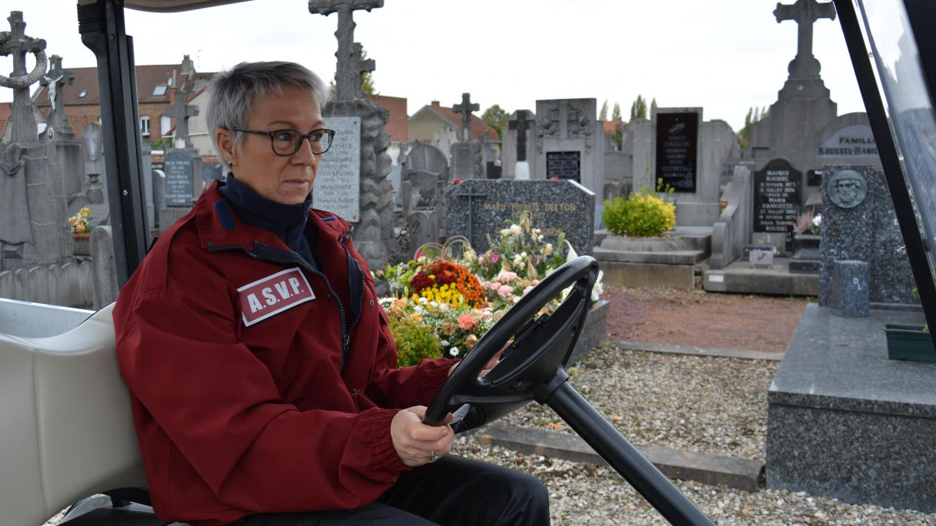 Une voiturette pour faciliter les déplacements au cimetière nord de Béthune