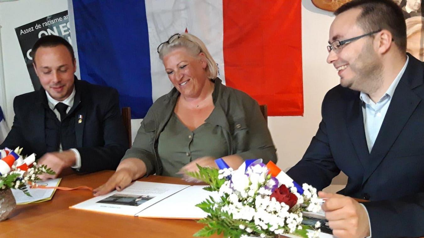 Yvelyne Lannoy, fière d'être la porte-parole du Rassemblement national à Coudekerque-Branche.