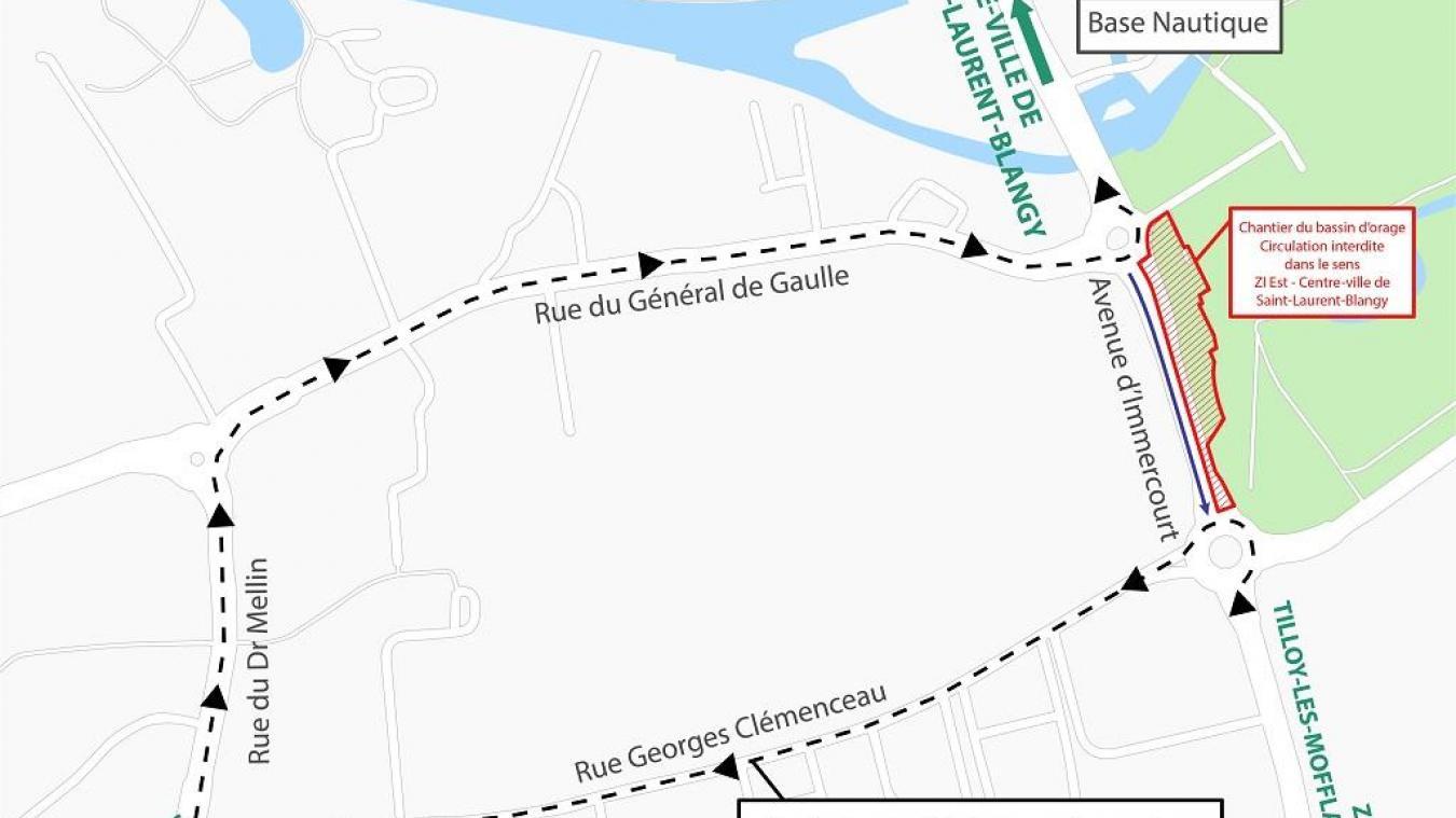 À Saint-Laurent-Blangy, une déviation mise en place pour 18 mois