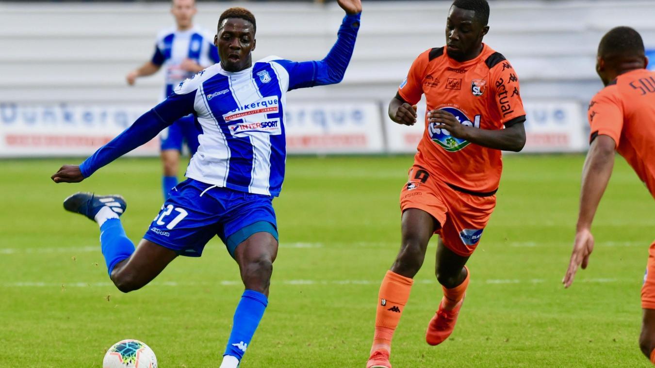 Mohamed Bayo et ses équipiers vont affronter Le Havre au 7 e  tour de la Coupe de France. ©Jean-Louis Burnod
