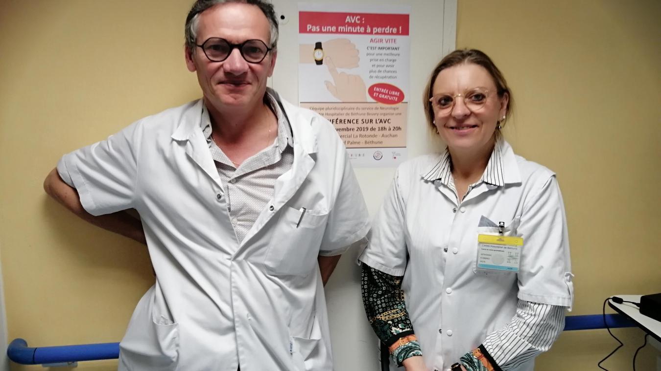 Les docteurs Pierre Charpentier et Florence Witkowski.