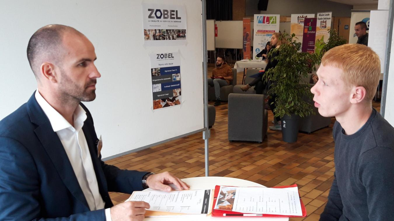 Julien Taccoen, directeur technique chez Zobel (Fleurbaix) en entretien avec Steven d'Estaires.