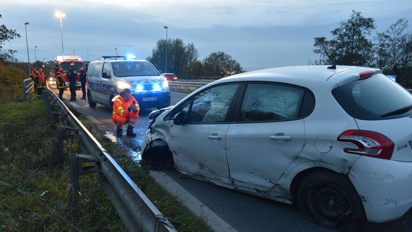 L'automobiliste a perdu le contrôle de sa voiture sur la RN42, à hauteur de La Capelle.