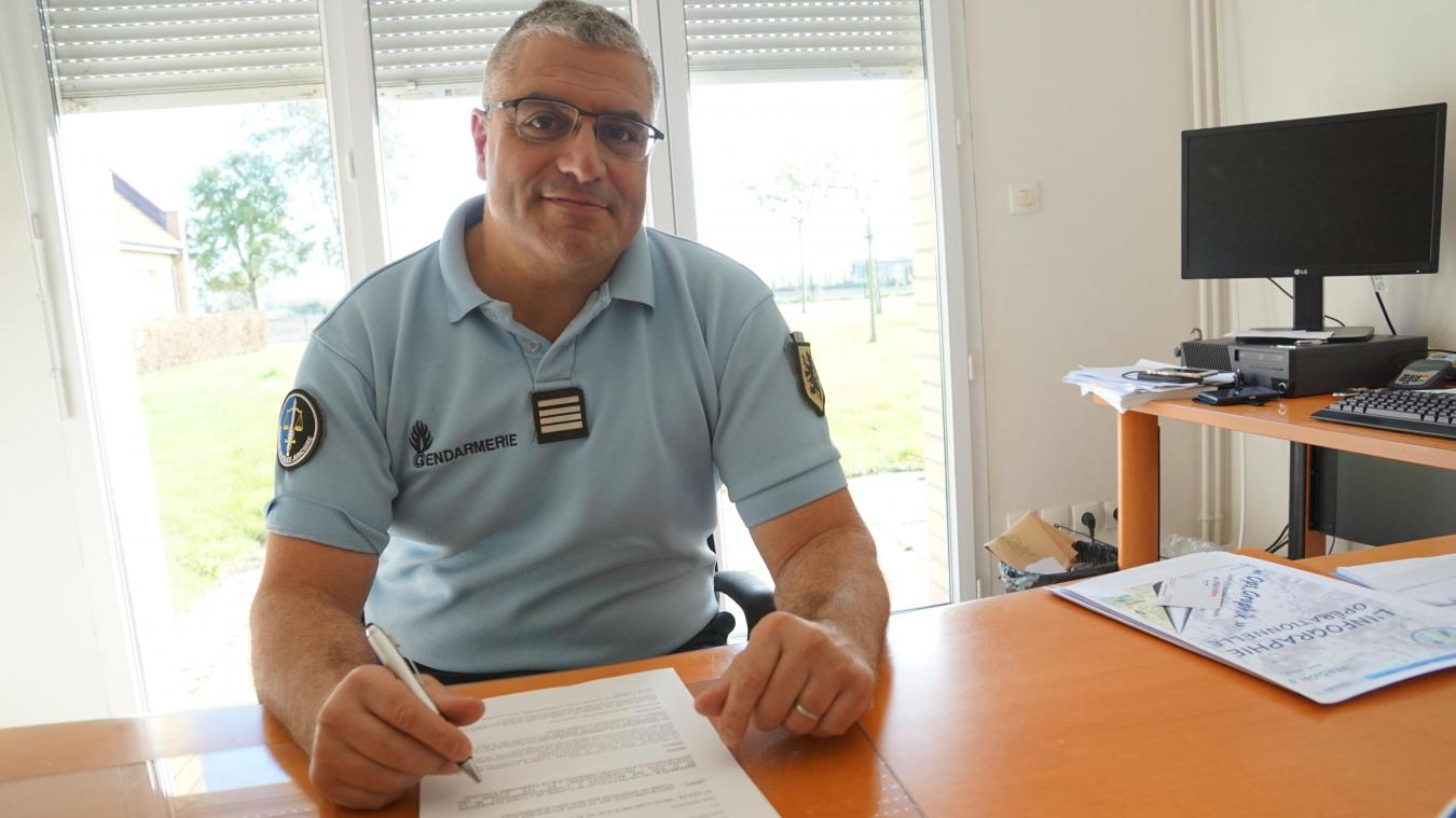 Le commandant Franck Chacon a pris ses fonctions cet été, succédant au commandant Thomas Bolle.