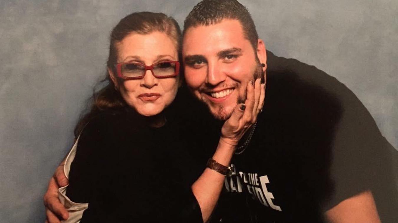 Le Boulonnais Gavin Bourgois a notamment rencontré Carrie Fisher, l'interprète de la princesse Leïa dans la saga et aussi la fille de Debbie Reynolds.